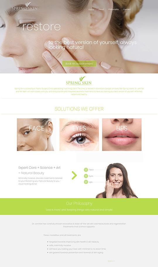 Spring Skin Homepage